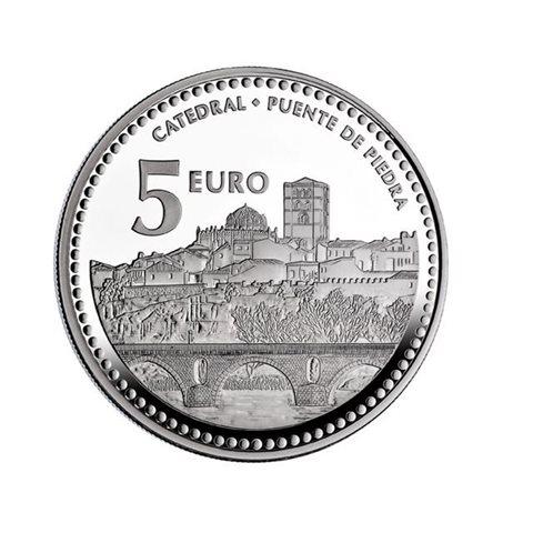 "2012. Capitales provincia. 5 euros ""Zamora"""