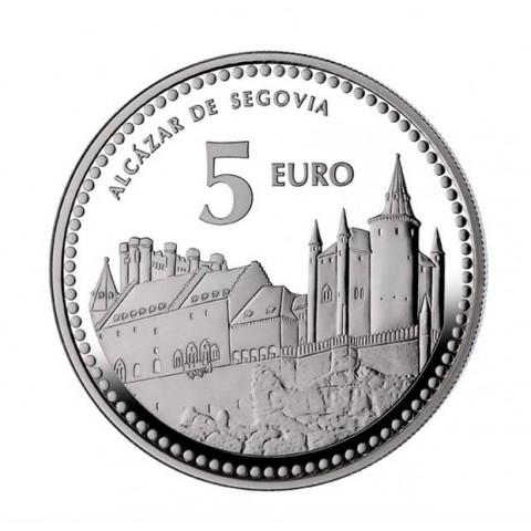 """2012. Capitales provincia. 5 euros """"Segovia"""""""