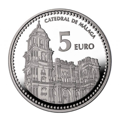 "2012. Capitales provincia. 5 euros ""Málaga"""