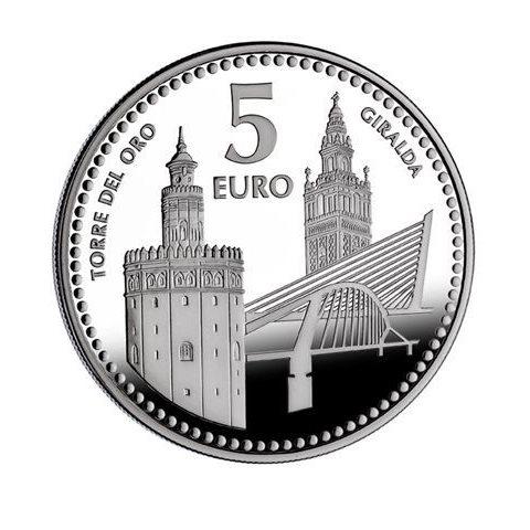 """2012. Capitales provincia. 5 euros """"Sevilla"""""""