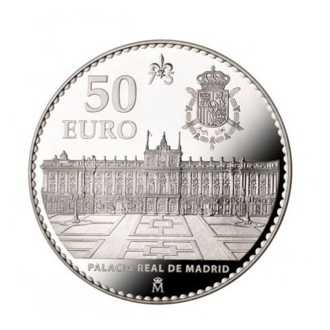 2013. 75 Aniversario Juan Carlos I. 50 euros