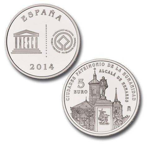 2014. Patrimonio Humanidad. Alcala Henares. 5 euros