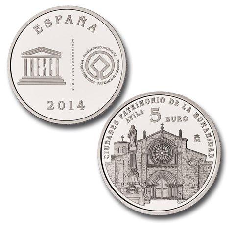2014. Patrimonio Humanidad. Avila. 5 euros