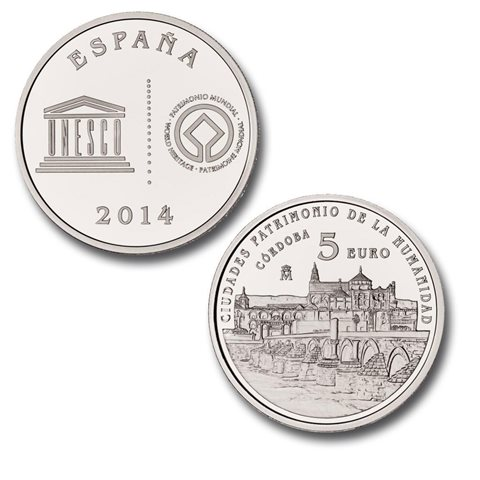 2014. Patrimonio Humanidad. Córdoba. 5 euros