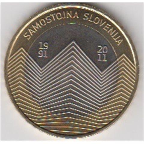 "2011. 3 Euros Eslovenia ""Aniversario Independencia"""