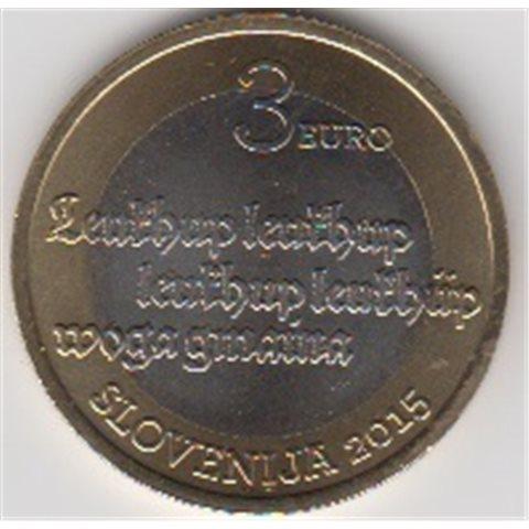 "2015. 3 Euros Eslovenia ""Primer texto"""