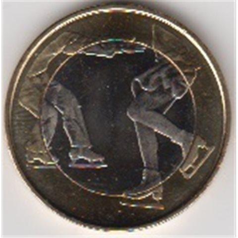 """2015. 5 Euros Finlandia """"Patinaje artístico"""""""