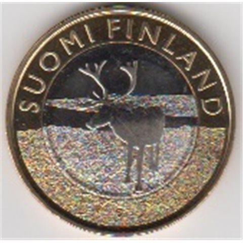 """2015. 5 Euros Finlandia """"Reno Laponia"""""""