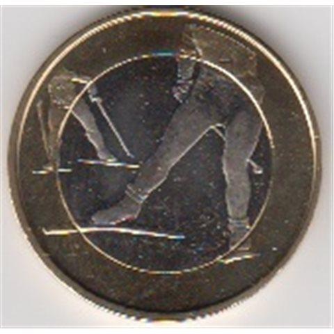 "2016. 5 Euros Finlandia ""Esqui fondo"""