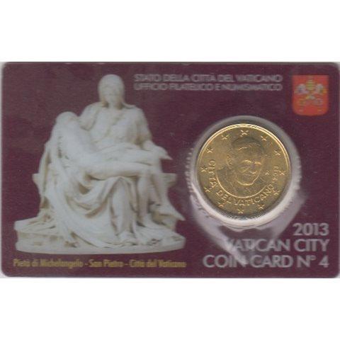 2013. Coin Card Vaticano 50 Ctms