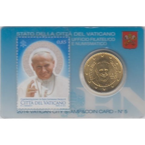 2014. Stamp&Coin Card Vaticano