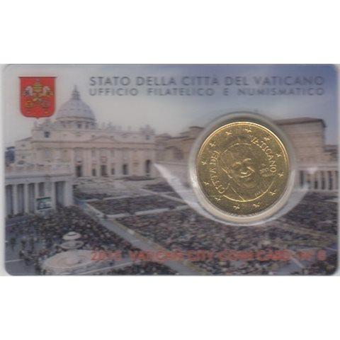 2015. Coin Card Vaticano 50 Ctms