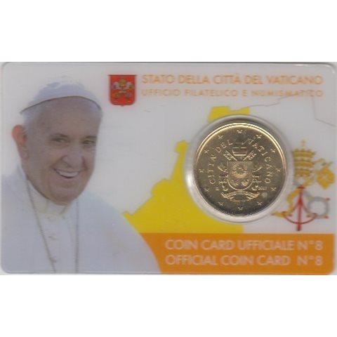 2017. Coin Card Vaticano 50 Ctms