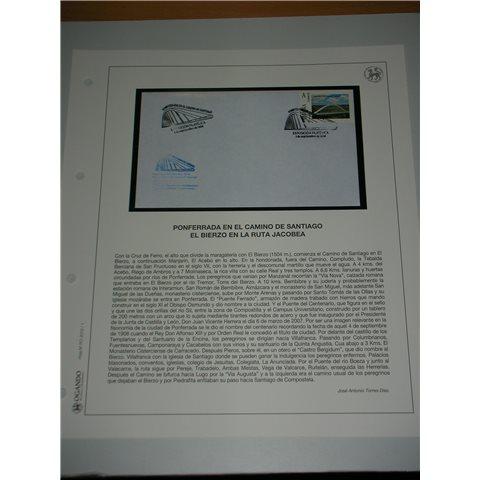 2010. Hoja y sobre matasellos Puente Centenario