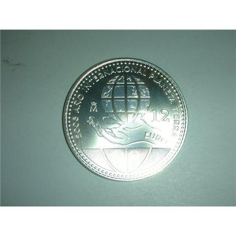 "2008. Moneda 12 euros ""Planeta Tierra"""