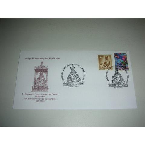 2005. Sobre matasellos Virgen del Camino