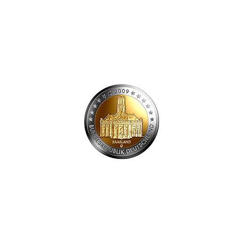 "2009. 2 Euros Alemania ""Saarland"""