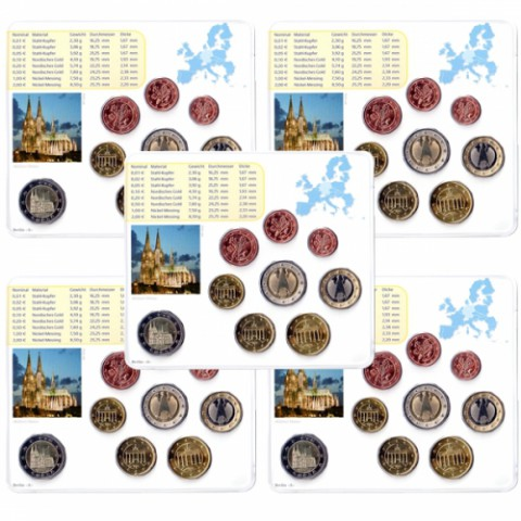 2011. Cartera euros Alemania (5 cecas)