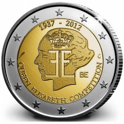 """2012. 2 Euros Bélgica """"Concurso Reina Isabel"""""""