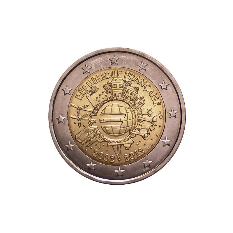"""2012. 2 Euros Francia """"X Aniversario"""""""
