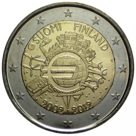 "2012. 2 Euros Finlandia ""X Aniversario"""