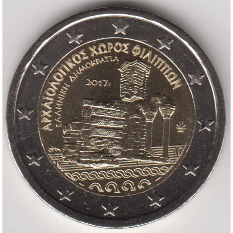 """2017. 2 Euros Grecia """"Filipos"""""""