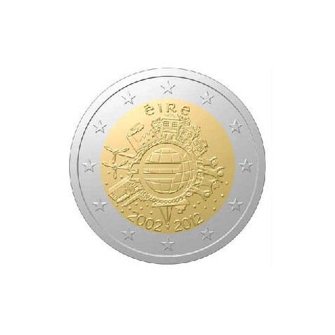 "2012. 2 Euros Irlanda ""X Aniversario"""