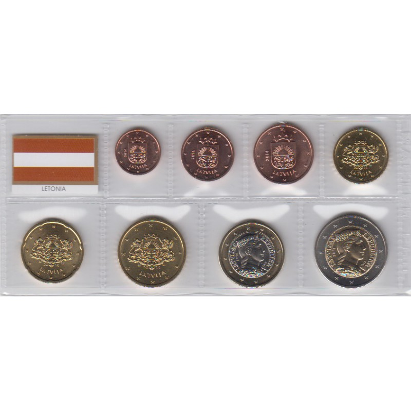 2014. Tira euros Letonia