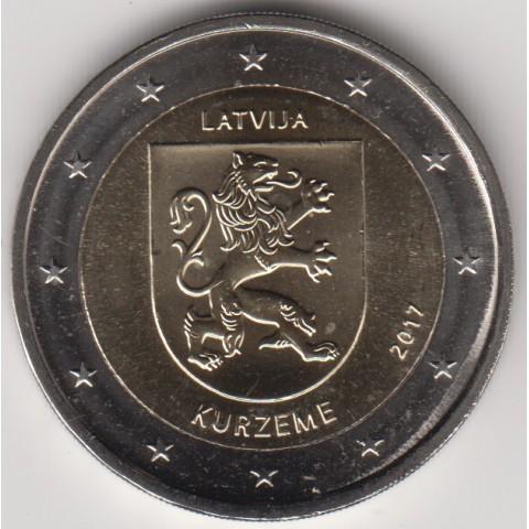 """2017. 2 Euros Letonia """"Kurzeme"""""""