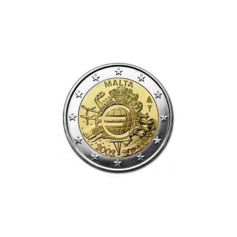 "2012. 2 Euros Malta ""X Aniversario"""