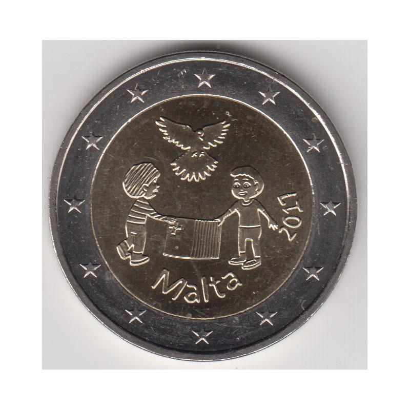 """2017. 2 Euros Malta """"Niños"""""""