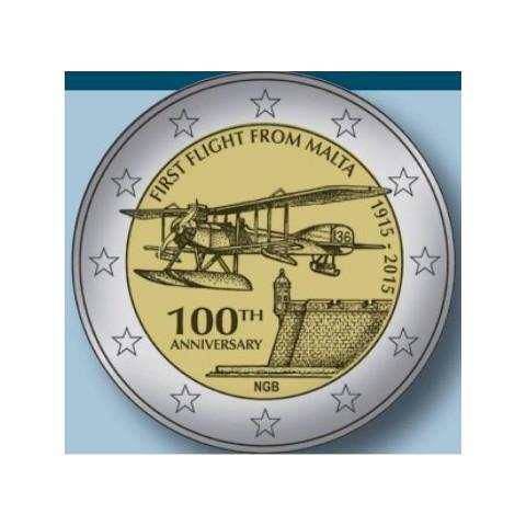 """2015. 2 Euros Malta """"Primer vuelo"""""""
