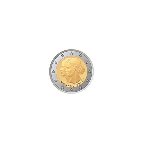 """2011. 2 Euros Mónaco 2011 """"Boda"""""""