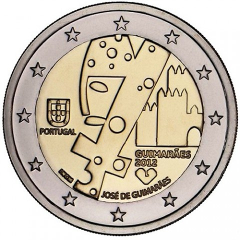 "2012. 2 Euros Portugal ""Guimaraes"""