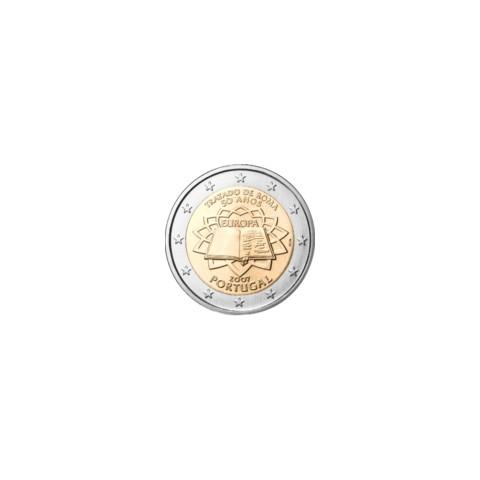 """2007. 2 Euros Portugal """"Tratado de Roma"""""""