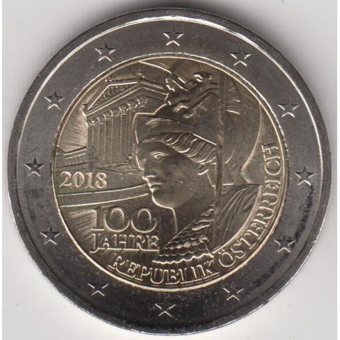 "2018. 2 Euros Austria ""Aniversario República"""
