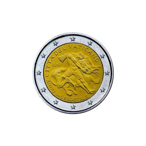 """2010. 2 Euros Vaticano """"Año Sacerdotal"""""""