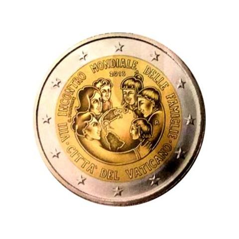 """2015. 2 Euros Vaticano """"Encuentro familias"""""""