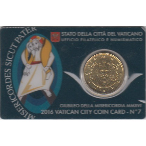 2016. Coin Card Vaticano 50 Ctms