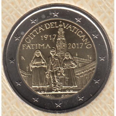 """2017. 2 Euros Vaticano. """"Fátima"""""""