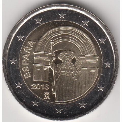 """2018. 2 Euros España """"Santiago Compostela"""""""