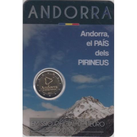 """2017. 2 Euros Andorra """"País de los Pirineos"""""""