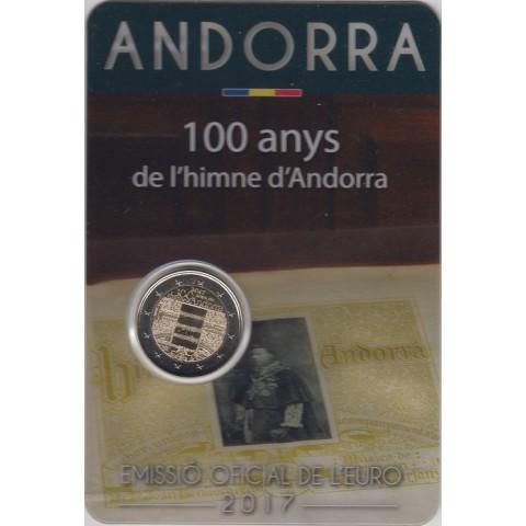 "2017. 2 Euros Andorra ""Centenario Himno"""