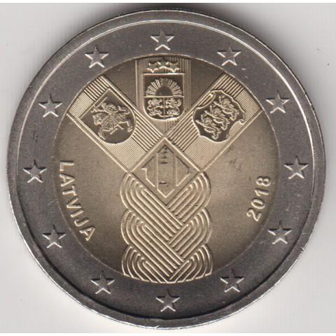 """2018. 2 Euros Letonia """"Países Bálticos"""""""