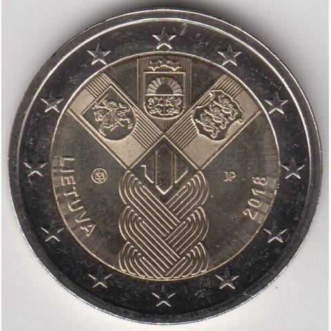 """2018. 2 Euros Lituania """"Países Bálticos"""""""