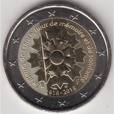 """2018. 2 Euros Francia """"Aciano Gran Guerra"""""""