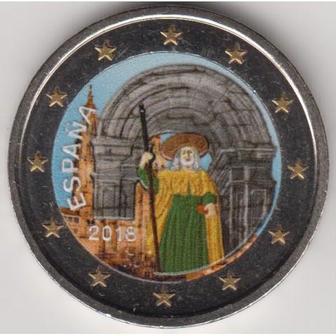"""2018. 2 Euros España """"Santiago Compostela"""" color"""