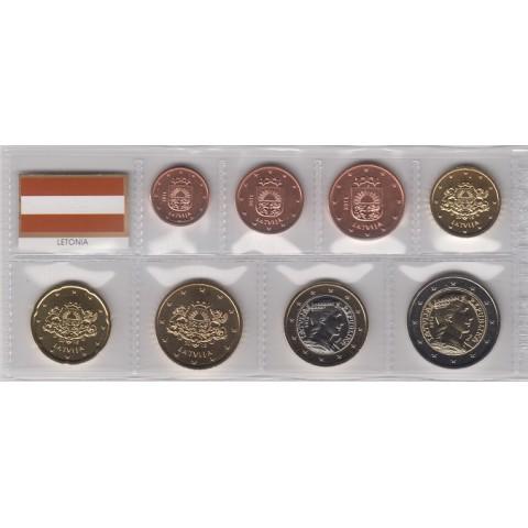 2015. Tira euros Letonia