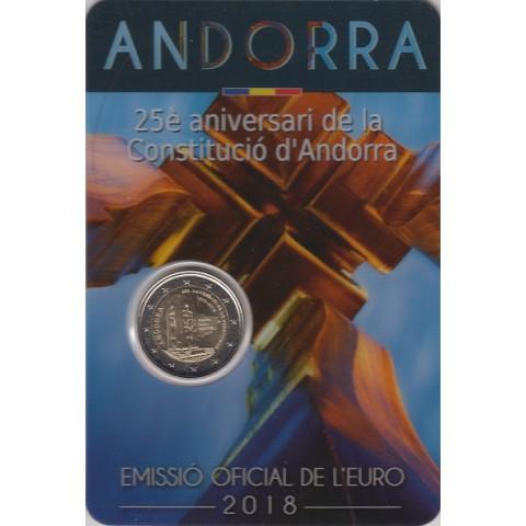 """2018. 2 Euros Andorra """"Constitución"""""""