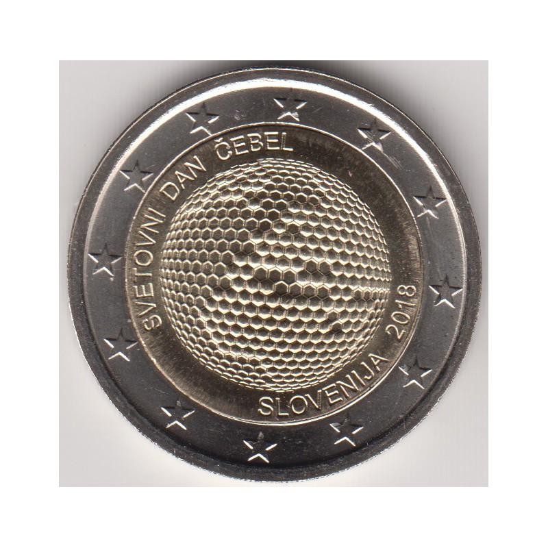 """2018. 2 euros Eslovenia """"Día Mundial Abejas"""""""